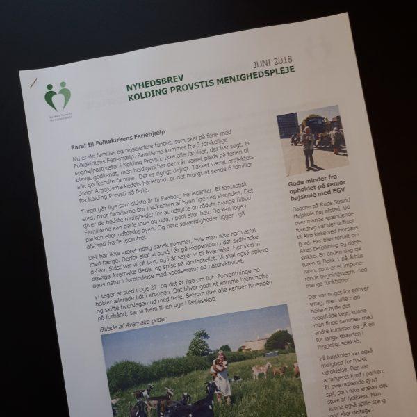 Nyhedsbrev for Kolding Provstis Menighedspleje juni 2018